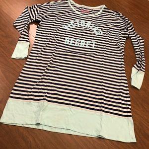 Victoria's Secret VS Striped Logo Sleep Shirt